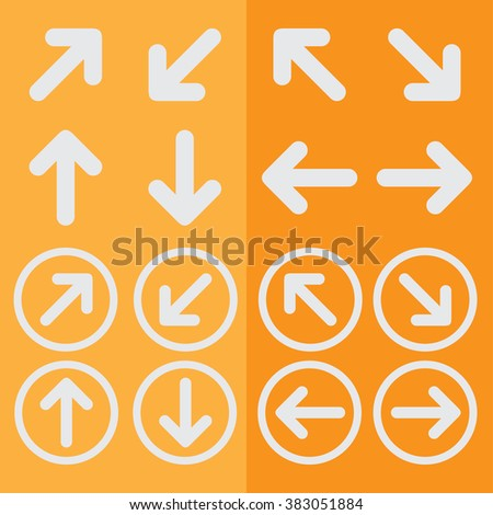 Arrow icon set - stock vector