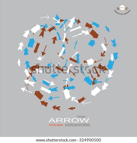 arrow icon set.arrow design.  arrow .vector illustration. - stock vector