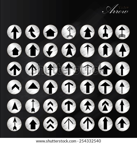 arrow icon set,arrow on chalkboard,arrow illustration,basic arrow,standard arrow , arrow vector      - stock vector