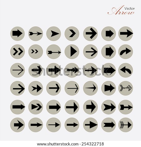 arrow icon set,arrow on gray background,arrow illustration,basic arrow,standard arrow ,art design  arrow vector - stock vector