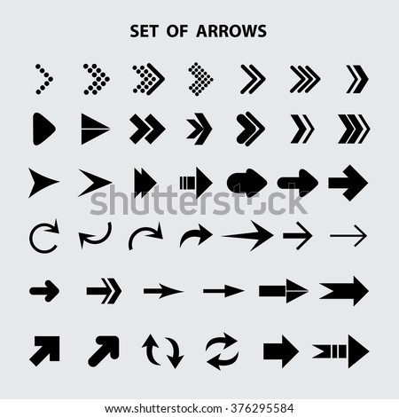 Arrow icon,set of arrows