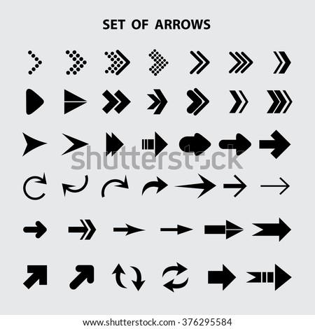 Arrow icon,set of arrows - stock vector
