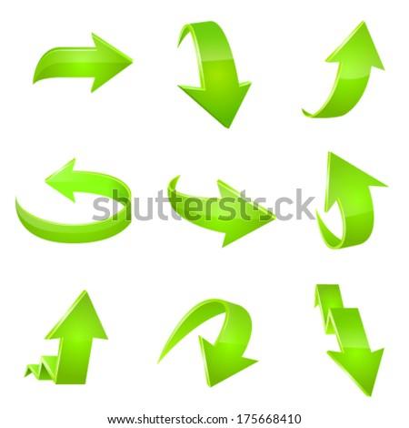 Arrow icon set. Vector - stock vector