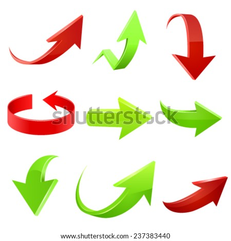 Arrow icon set. Vector illustration - stock vector
