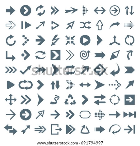 Arrow Icon Set - Vector Illustration