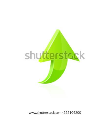 Arrow icon. Vector - stock vector