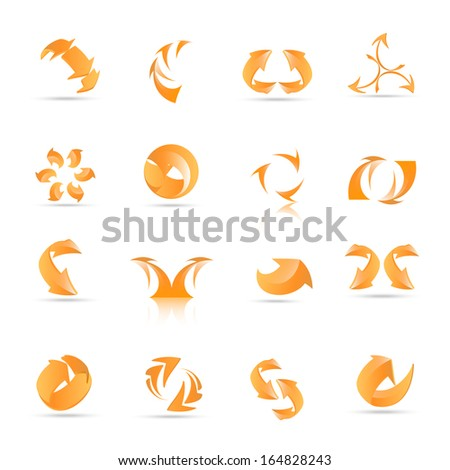 Arrow Icons Set - Isolated On White Background - Vector Illustration, Graphic Design Editable For Your Design.