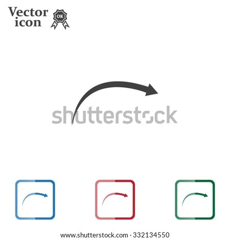 arrow indicates the direction. icon. vector design