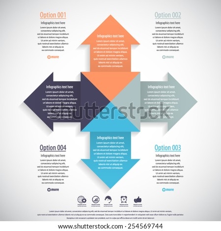 Arrow infographics template -EPS10 vector