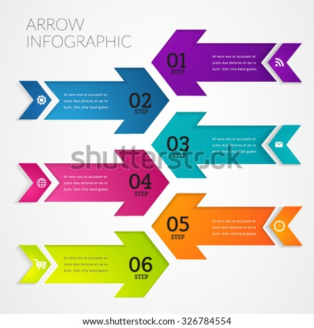 Arrow Modern Infographic design element banner.