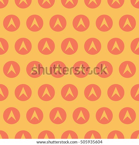 Arrow Or Boomerang Pattern Seamless Vector Background