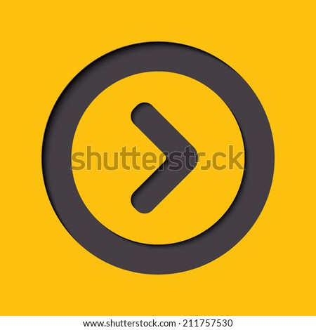 Arrow point flat icon right - stock vector