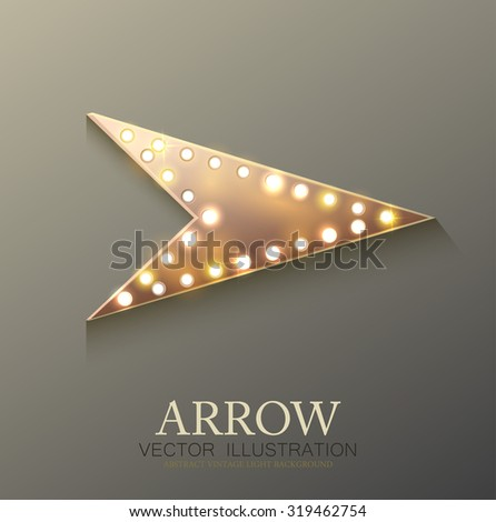 Arrow retro light banner. Vector illustration eps 10 - stock vector