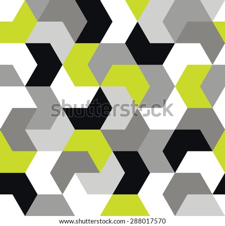 Arrow seamless pattern. Endless background of geometric shapes. Wallpaper. Vector illustration. - stock vector