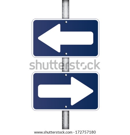 arrow sign - stock vector