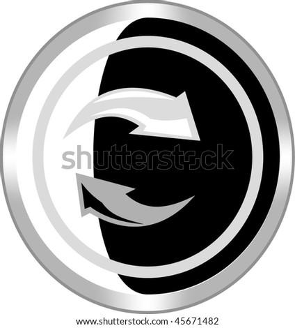 arrow sign icon button - stock vector