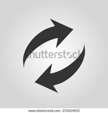 Arrow sign reload refresh rotation loop pictogram. - stock vector