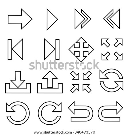 Arrow symbol icons.vector