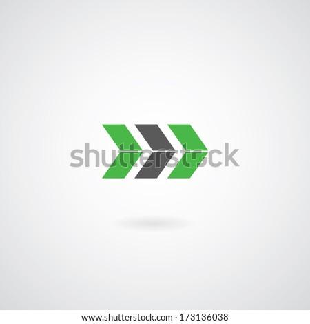 arrow symbol on gray background  - stock vector