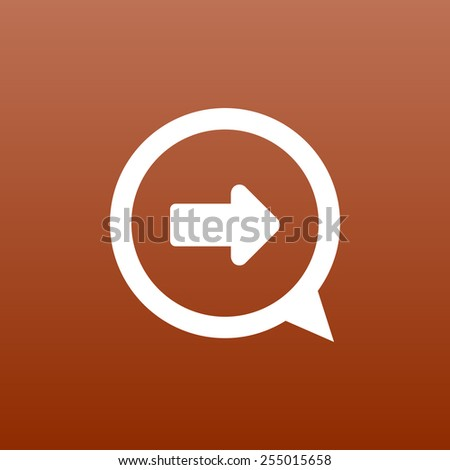 arrow up icon isolated move symbol element abstract - stock vector