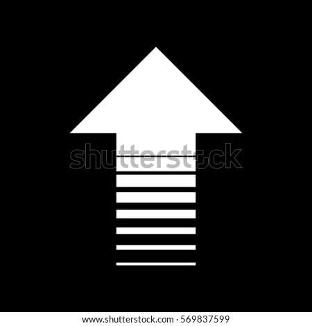Arrow icon white icon on black stock vector royalty free 569837599 arrow up icon white icon on black background altavistaventures Gallery