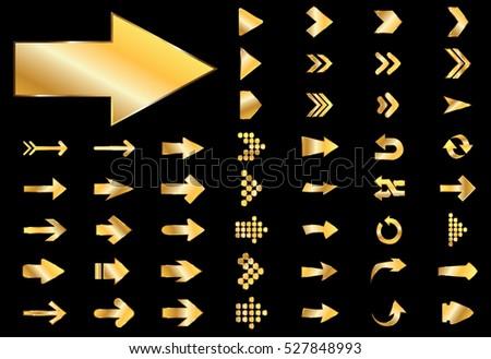 Arrow Vector Gold Curve Line 3 D Stock Vector Royalty Free