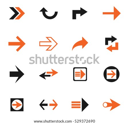 arrow web icons for user interface design
