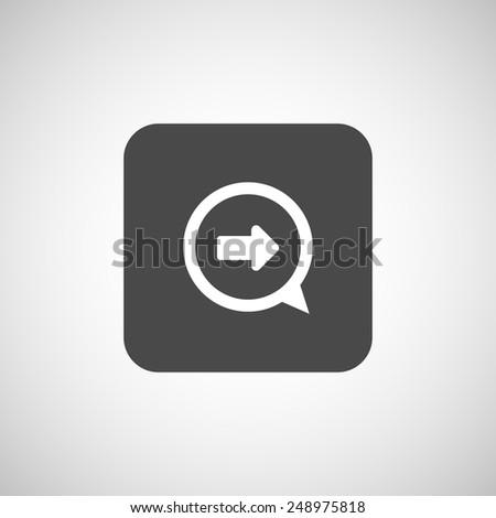 arrow website next pointer cursor navigation right icon - stock vector