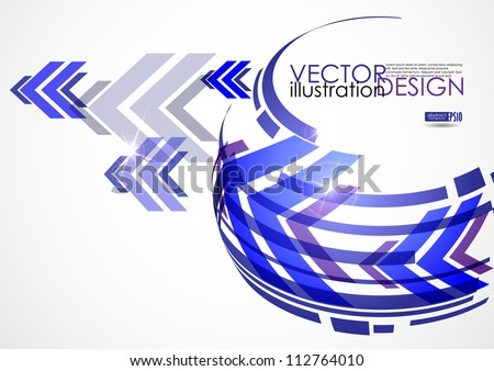 Arrow white background with place for your text. Vector illustration. Eps 10. - stock vector