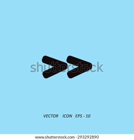 Arrowhead right icon Arrowhead right icon - stock vector