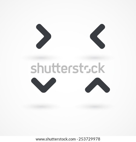 Arrowhead right, left, down, up icon - stock vector