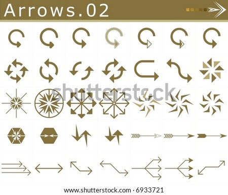 Arrows.02 - stock vector