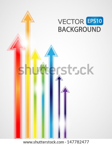 Arrows Abstract Background. High quality vector illustration. Eps10.