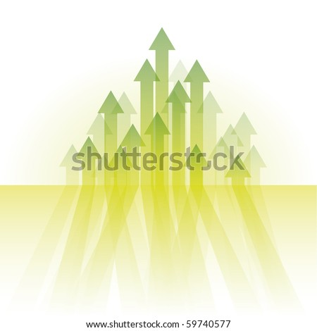 arrows abstract vector - stock vector