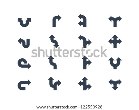 Arrows and directional signs - stock vector