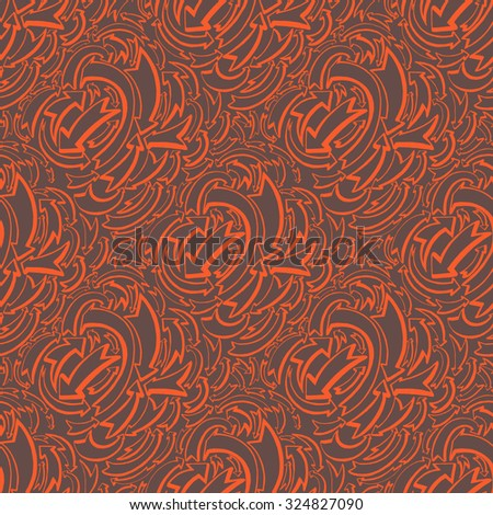 Arrows and directions. Wallpaper textile seamless pattern. Hand drawn illustration. - stock vector