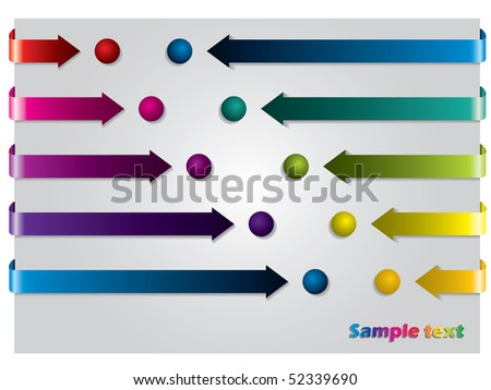 Arrows and dots - stock vector
