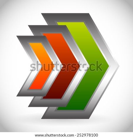 Arrows, arrowheads pointing right. Vector Eps 10. - stock vector