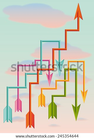 arrows as business growing - stock vector