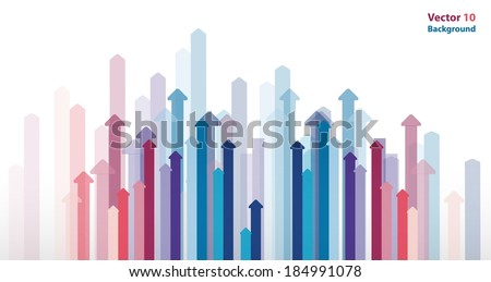 arrows background - Abstract graphic design background template - stock vector