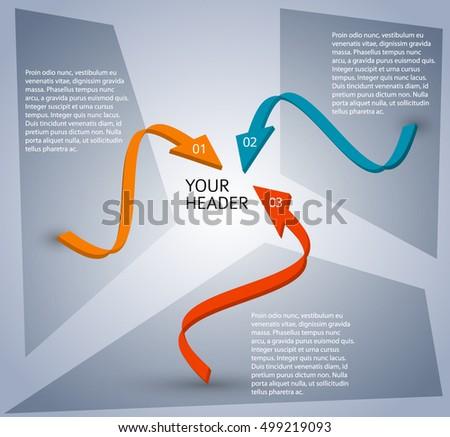 arrows background design elements promotional brochures stock vector