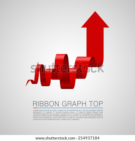 Arrows business tape art info. Vector illustration - stock vector