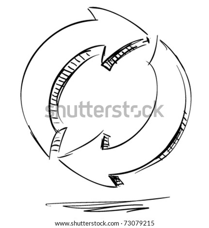 arrows circus  restore hand drawing style - stock vector
