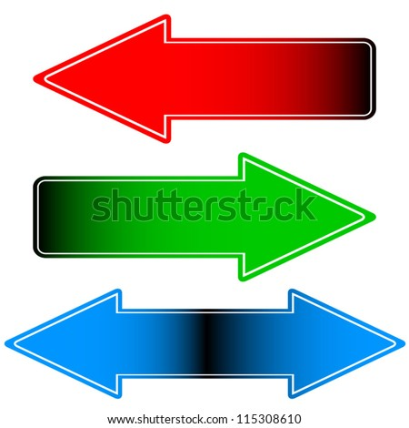 Arrows icon - stock vector