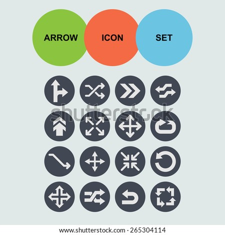 arrows icons  - stock vector