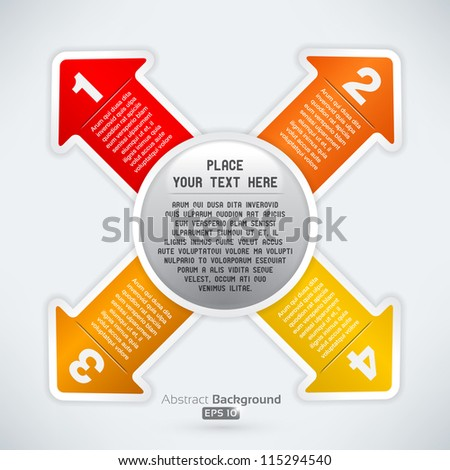 Arrows in four directions - stock vector