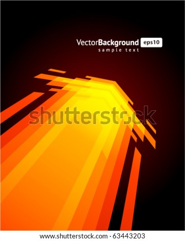 Arrows in perspective vector background. Eps 10 - stock vector