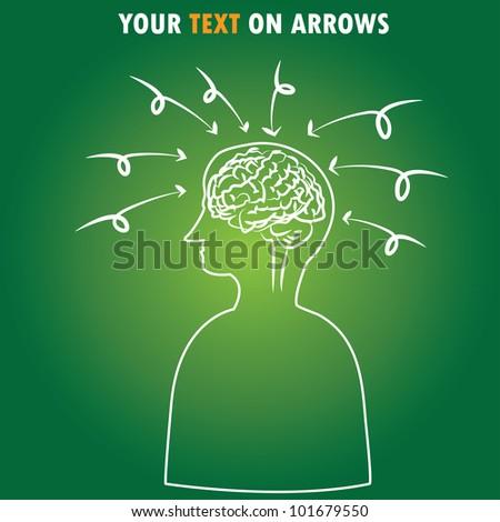 Arrows,intelligence,Brain,Vector - stock vector