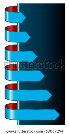 arrows pointing - stock vector