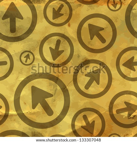 Arrows. Seamless vintage background. - stock vector